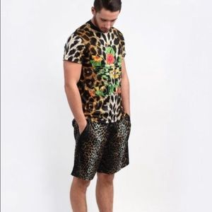 Adidas Jeremy Scott animal print floral top small